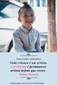 frase criatividade da criança